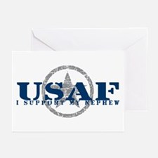 I Support My Nephew - Air Force Greeting Cards (Pk