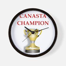 canasta joke Wall Clock