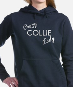Crazy Collie Lady Women's Hooded Sweatshirt