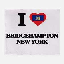 I love Bridgehampton New York Throw Blanket