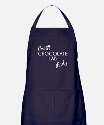 Crazy Chocolate Lab Lady Apron (dark)