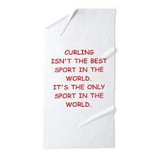 curling Beach Towel