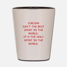 curling Shot Glass