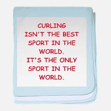 curling baby blanket