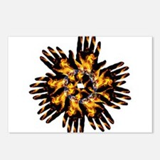 Blazing Hand Starburst Postcards (Package of 8)