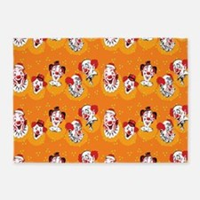 Clowns 5'x7'Area Rug