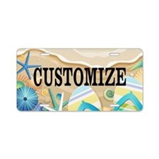 Summer Beach Custom Aluminum License Plate
