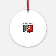Montgomery Alabama Ornament (Round)