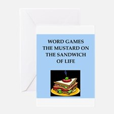word games Greeting Cards