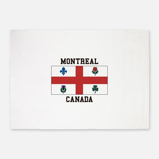 Montreal Canada 5 X7 Area Rug