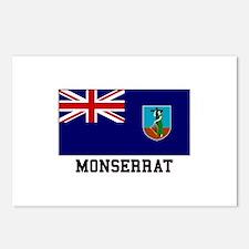Monserrat Flag Postcards (Package of 8)
