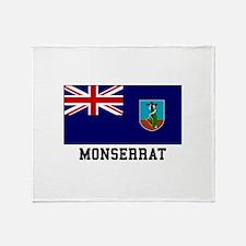 Monserrat Flag Throw Blanket