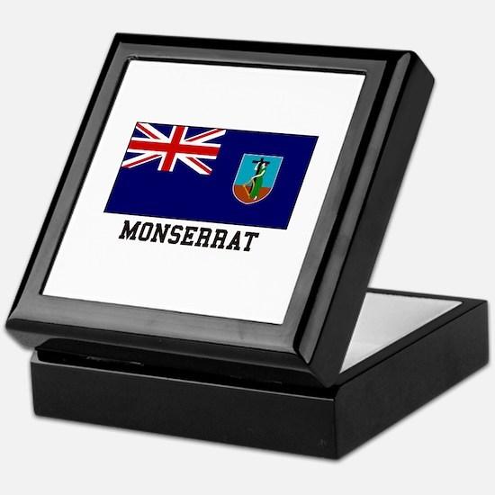 Monserrat Flag Keepsake Box
