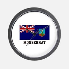 Monserrat Flag Wall Clock