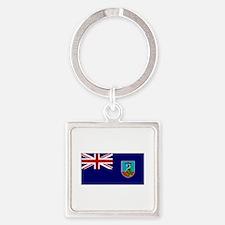 Monserrat Flag Keychains