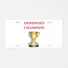 dominoes joke Aluminum License Plate