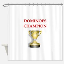 dominoes joke Shower Curtain