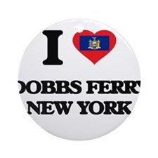 I love Dobbs Ferry New York Ornament (Round)