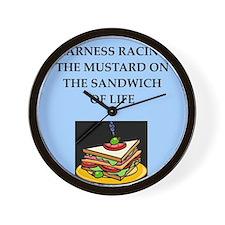 harness racing joke Wall Clock
