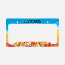 Summer Beach Seashell Custom License Plate Holder