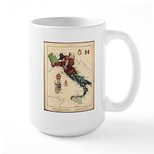1868 Vintage Politcal Map of Italy Mug