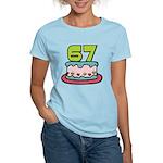 67 Year Old Birthday Cake Women's Light T-Shirt