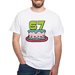 67 Year Old Birthday Cake White T-Shirt