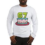 67 Year Old Birthday Cake Long Sleeve T-Shirt