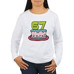 67 Year Old Birthday Cake Women's Long Sleeve Tee