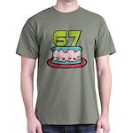 67 Year Old Birthday Cake Dark T-Shirt