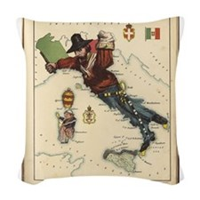 1868 Vintage Politcal Map of I Woven Throw Pillow