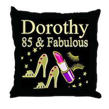 FABULOUS 85TH Throw Pillow