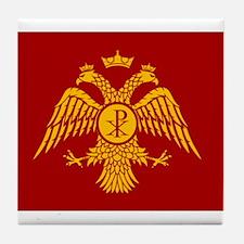 Eastern Roman Empire Flag Tile Coaster