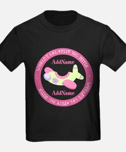 Personalized Pink Airplane Big S T