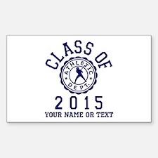 Class of 2015 Baseball Sticker (Rectangle)