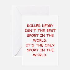 roller derby Greeting Cards