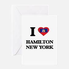 I love Hamilton New York Greeting Cards