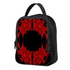 Retro Toothy Pattern - Red. Fi Neoprene Lunch Bag