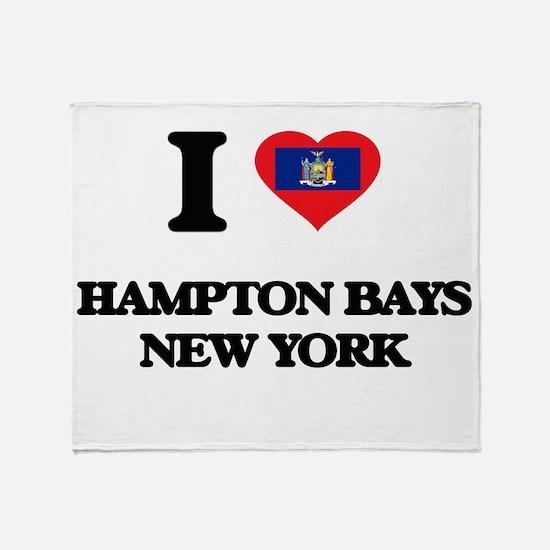 I love Hampton Bays New York Throw Blanket