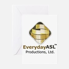 Everyday ASL Productions Logo Greeting Cards (Pk o