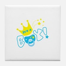 Its a boy pacifier Tile Coaster