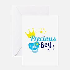 Precious boy crown Greeting Cards