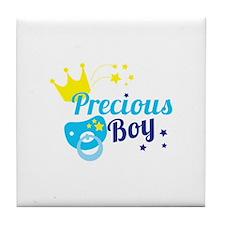 Precious boy crown Tile Coaster