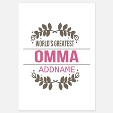 Personalized World's Greatest Omma Invitations