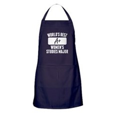 Worlds Best Womens Studies Major Apron (dark)