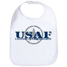 I Support My Granddaughter - Air Force  Bib