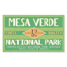 Mesa Verde National Park (Retro) Sticker (Rectangu