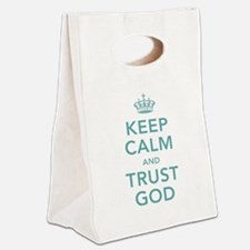 Keep Calm and Trust God Canvas Lunch Tote