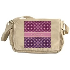 Personalized Purple Violet Eternity Messenger Bag