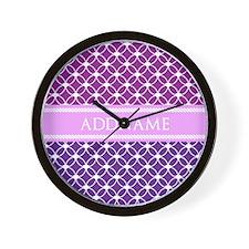 Personalized Purple Violet Eternity Lin Wall Clock